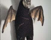 Werebat - bat, nosferatu, puppet, poppet, odd, dark, vampyr, creepy, vampire, bloodsucker, vampyr, macabre, black, fluffy, horror