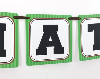 Name Banner - Made to Match Football Party Birthday Banner
