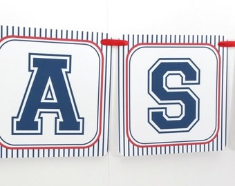 Name Banner - Made to Match Baseball Party Birthday Banner