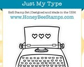 Just My Type - Honey Bee Stamps - High Quality, Adorable Clear Stamps - MADE IN USA - for Scrapbooking, Cardmaking, Paper Crafting