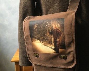 Sasquatch - Field Bag - Messenger Bag - School Bag - Canvas Bag