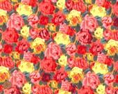 Sheona Rose, Liberty Tana Lawn Fabric, Liberty of London, Liberty Japan, Vivid Rose, Floral Design, Cotton Print Scrap, Patchwork, kt5053d