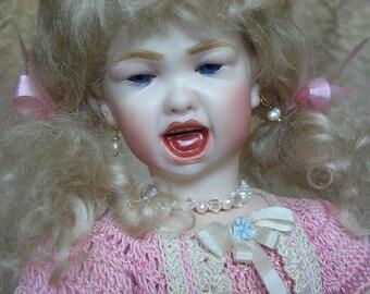 Jumeau 211 Wailing child Milette Bleuette porcelain doll HEAD ONLY By Emily Hart