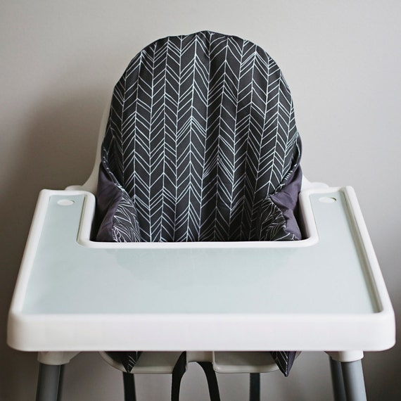 ikea antilop highchair cover gray featherland by. Black Bedroom Furniture Sets. Home Design Ideas