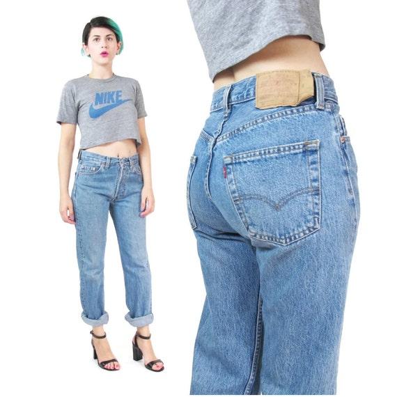 levis 501 jeans high waisted jeans womens boyfriend jeans. Black Bedroom Furniture Sets. Home Design Ideas