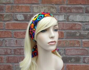 Headbands for Teens Colorful Circles on Black and White Reversible Headband Tween Headband Adjustable Headband Teen Girl Birthday Gifts