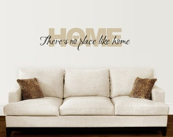 Home Wall Decal   Thereu0027s No Place Like Home Decal   Wizard Of Oz Wall Quote Part 52