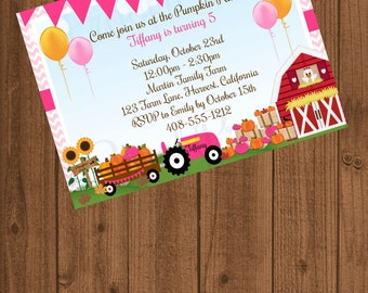 Pumpkin Patch Birthday Invitation, Halloween Birthday Invitation, Halloween 1st Birthday, Pumpkin Patch 1st Birthday