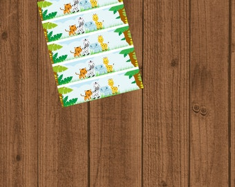 Jungle Baby Shower/Safari Baby Shower/Water Bottle Wrappers/Instant Download/Jungle Safari Water Labels