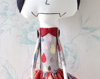 Handmade Cloth Art Doll - Brynn
