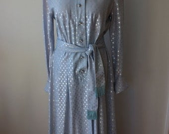 Disco Glamour High Class Gown with Sparkles/ Amazing Buttons