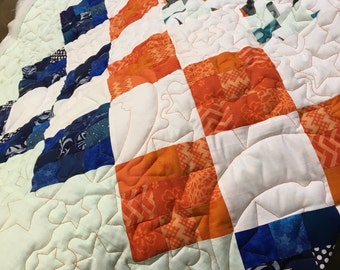 Custom baby quilt, made to order, you provide fabric