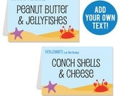 INSTANT DOWNLOAD Under the Sea Party Buffet Cards - EDITABLE Printable File
