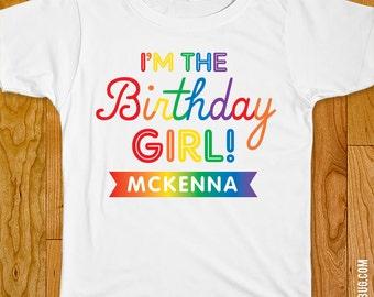 Rainbow Birthday Iron-On Shirt Design - Choose child or onesie size
