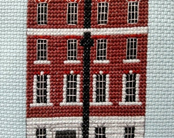 newest Beatlestitch Design PDF Version The Beatles 3 Savile Row Famous Landmark Rooftop Gig Counted Cross Stitch Chart Immediate Download