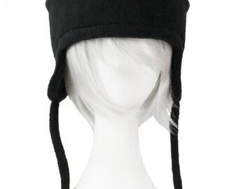 Panda Bear Black White Fleece Hat of Super Winter Bamboo Awesomeness
