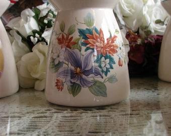 Lavender Clematis Bouquet! Ceramic Tea Light Tart Burner
