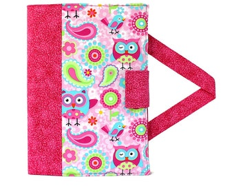 Paisley Owls Crayon Artist Case with option to add a name, Art wallet, Crayon holder, Crayon wallet, Organizer, Crayons and paper included