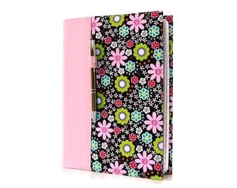 Notebook cover with option to personalize, composition notebook cover, fabric notebook cover, journal, teacher gifts - Flower Power