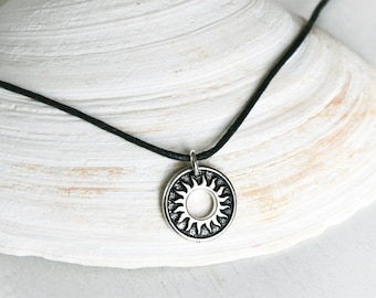 Sun Necklace / Del Sol Ring Necklace (Many Cord Color to choose)