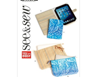 Sew & Make Butterick B5841 SEWING PATTERN - Womens E-Reader Covers Laptop Cases