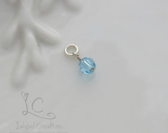 Add a Charm 6mm Swarovski Crystal Birthstone Dangle, Add on Birthstone Crystal
