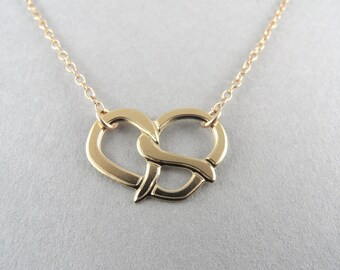 pretzel necklace, food jewelry