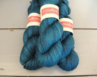 Tanami baby camel and silk hand dyed 4ply yarn -  Dabbling Duck