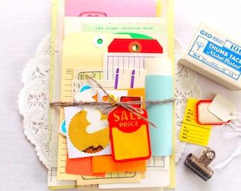 Vintage Office Ephemera Pack / Vintage Receipts / 35+ Pieces / Paper Ephemera / Junk Journal / Vintage Office