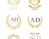 Custom Crest Monogram - Wedding logo - Wedding Monogram - Wedding Stationary