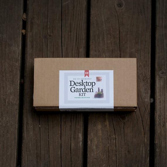 NEW! Premium Desktop Garden Terrarium Kit Contents -- You Provide The Vessel - Use Your Own Jar - Grow a Garden on Your Desk! Great Gift!