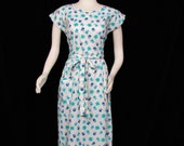 Day Dress - Swirl Brand - SWEET - circa 1950's - 1960's