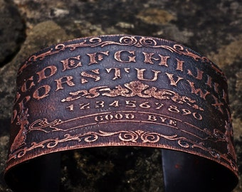 Ouija Board Jewelry - Jackalope Cuff Bracelet in Copper - occult, witch style, mori