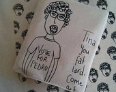 Canvas tote bag//Napoleon Dynamite //re-usable//screen printed//Beat the bag tax//eco friendly