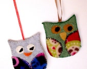 CLEARANCE SALE 50% off, was 6.99 - now 3.50 Owl Ornament, Handmade Christmas Tree Decor, Holiday Decorations, Owl Ornament Collector,