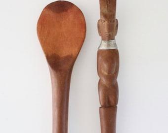 S A L E hand carved salad utensils