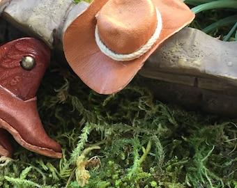 Miniature Cowboy Hat Dollhouse Scale 1:12 Miniature
