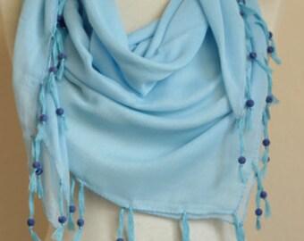 Blue scarves Turkish Yemeni scarf  Beaded scarves beaded velvet scarf  square scarves