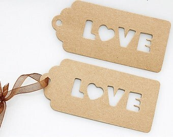 25 Units of Kraft Tag - Valentines Day Gift - Wedding Gift - Gift Wrapping - 4.7cm x 10.3 cm - Ready to Ship.