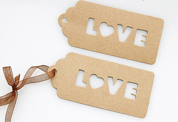 25 Units of Kraft Tag - Valentines Day Gift - Wedding Gift - Gift ...