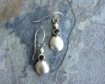 Sapphire and Sterling Silver Earrings for Charity.