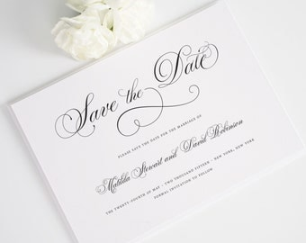 Angelic Script Save the Date - Shown in Aquamarine - Deposit