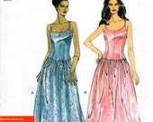 OOP 90s Prom Formal Evening Structured Top and Gathered Skirt - Sewing Pattern Simplicity 9015 - UNCUT FF