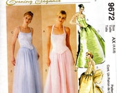 OOP Structured Top Full Long Skirt & Stole - Sewing Pattern McCall's 9672 - Size 4 6 8 UNCUT FF
