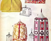 1960s Bird Cage Covers - Vintage Pattern Advance 720 - UNCUT FF