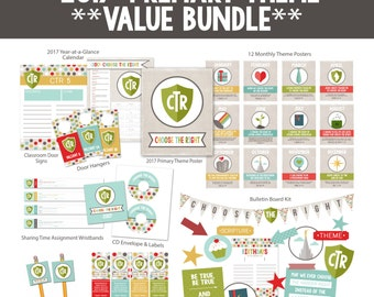 2017 LDS Primary Theme Value Bundle-Choose the Right-Sharing Time-DIY Instant Download Printables