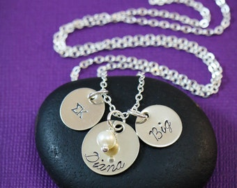 SALE - Sorority Necklace - Big Little Necklace - Big Sister Jewelry - Greek Letters - Back To School Gift - Freshman - First Day Gift