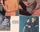 60s Vintage Knitting Crochet Patterns Australian Womens' Weekly 1967 Booklet Men Women Kids 32 pages of patterns