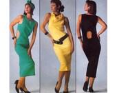 80s Cutout Dress Pattern Burda 6244 Vintage Sewing Pattern UNCUT FF Sizes 8 10 12 14 16 18