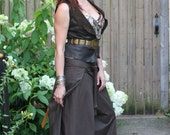 Brown Tie, silly, Jedi inspired, pirate pants, one size Cotton, bellydance, SCA, Cosplay